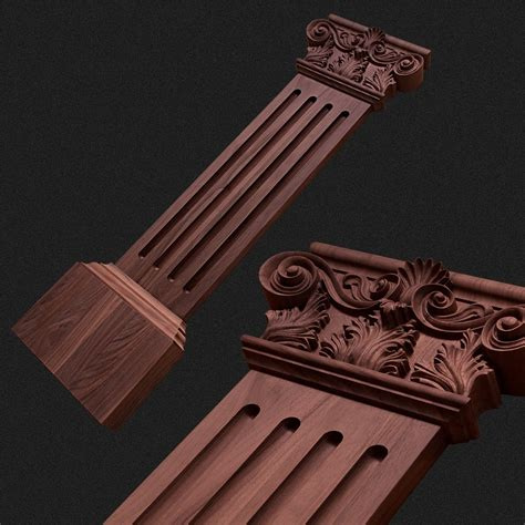 pilaster und gesimse holzs 228 ule pilaster mit kapitell krb62 kwasny carvings