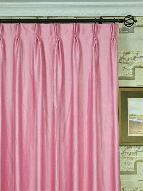 extra wide curtains and drapes extra wide swan pink and red solid double pinch pleat