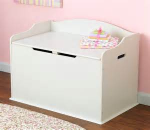 Home children s large white wooden toy box