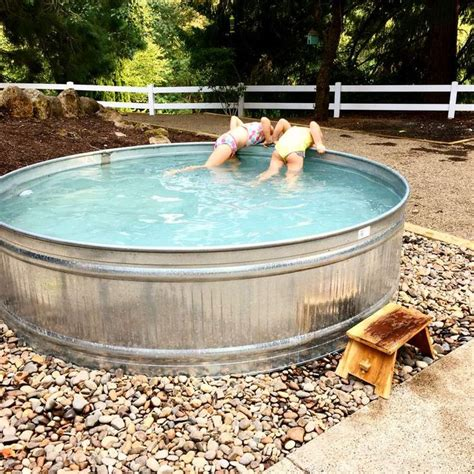 clever stock tank pool designs  ideas stock tank