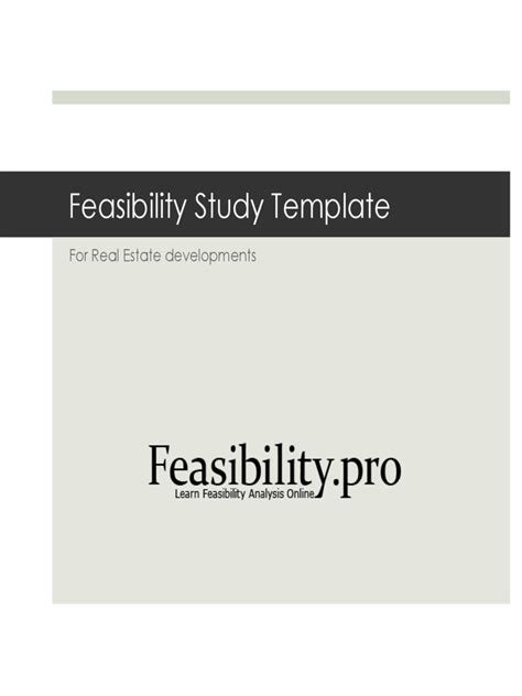 Feasibility Analysis Template 2 Free Templates In Pdf Word Excel Download Feasibility Template