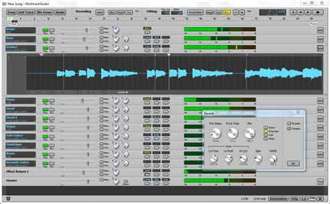 audio video layout software bremmers audio design multitrackstudio recording software v7 5