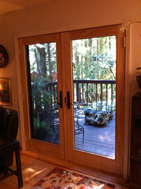 Andersen 400 Series Patio Door Reviews Andersen 400 Series Wood Patio Door Installed In The Redwoods On Skyline Ready For