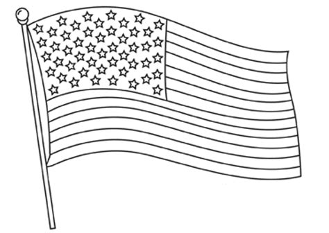 coloring page of american flag printable kids colouring