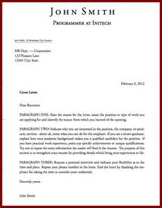 Cover Letter Tex by Application Letter
