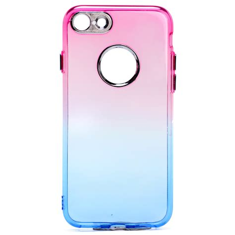 Iphone 55s Two Tone Colours Include Screen Protector wholesale iphone 7 plus two tone color hybrid hotpink blue