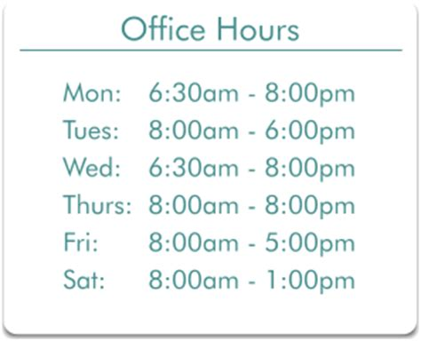 office hours template patient forms associates in family practice sterling