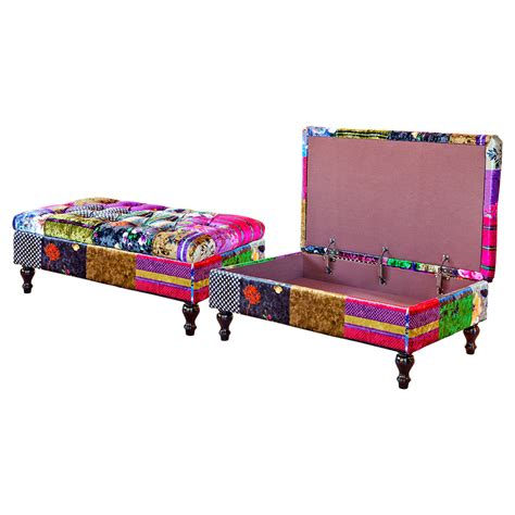 patchwork ottoman furniture art by chaisse limited alhambra storage