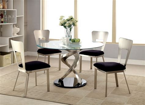 Tempered Glass Dinding roxo 5pc tempered glass top dining table set