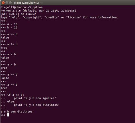 comparacion de cadenas en python operadores basicos en python mi diario python