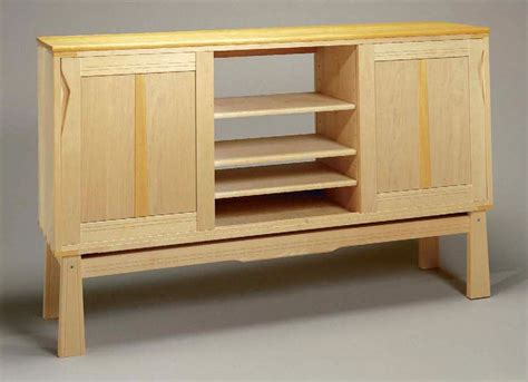 plan  stylish modern credenza finewoodworking