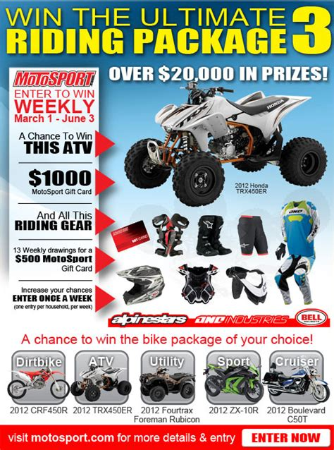 Motosport Ultimate Ride Giveaway - can am commander forum the ultimate riding package 3