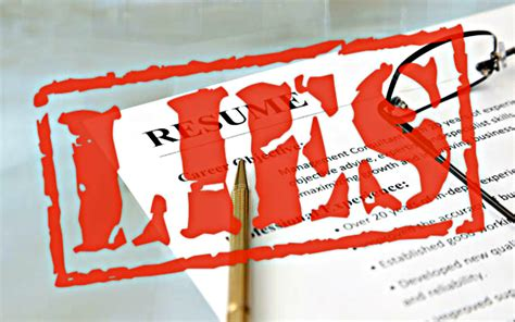 Employer Lies On Resume by When Is It Ok To Lie On Your Resume The Search Coach