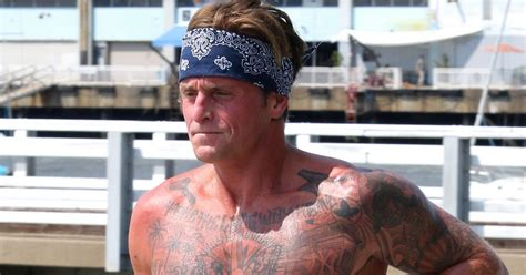 cameron douglas tattoos michael douglas cameron shows ripped and