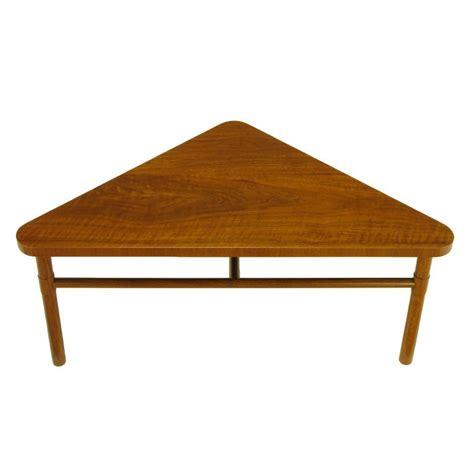 Triangle Shaped Coffee Table Bert Forward Trend Walnut Triangular Coffee Table At 1stdibs