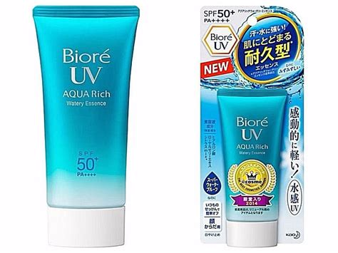 Biore Uv Aqua Rich Watery Essence In Jar 10g biore uv aqua rich watery essence 2017 kao sunscreen waterpro spf50 pa ebay