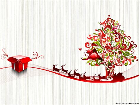 christmas wallpaper red and green red and green christmas tree with deers on a light