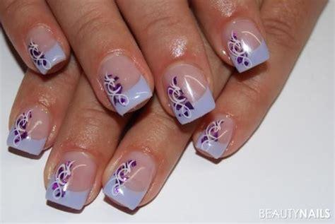 Nägel Mit Blumen by Yarial N 228 Gel Wei 223 Lila Interessante Ideen F 252 R Die