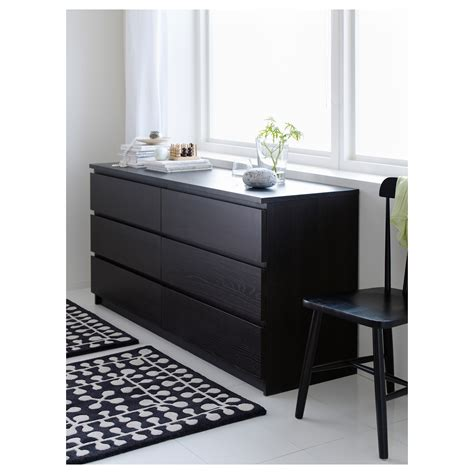 Black Brown Chest Of Drawers Malm Chest Of 6 Drawers Black Brown 160x78 Cm Ikea