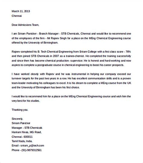 Recommendation Letter From Employer Engineering Best Recommendation Letter Template To Use