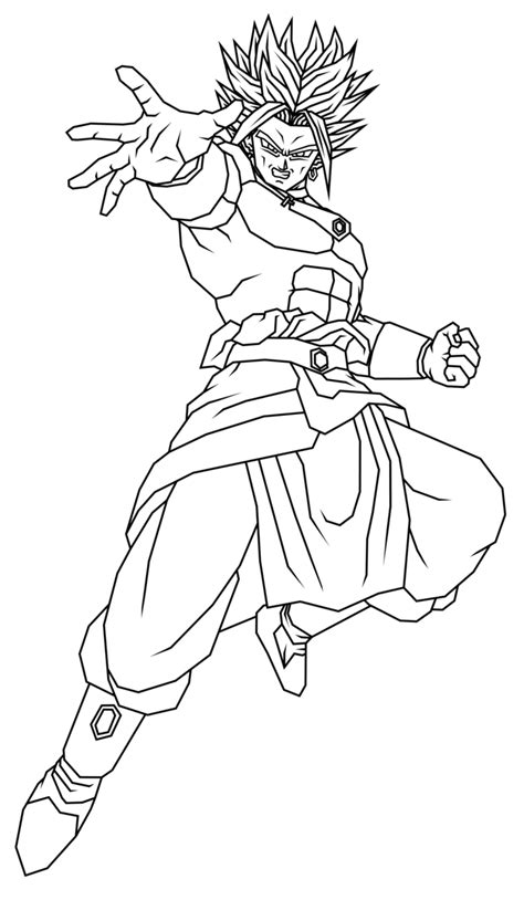 broly ssj coloring pages coloring pages
