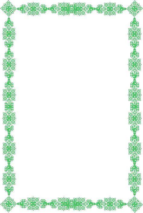 border templates for word documents flower borders for word document clipart best