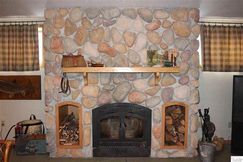 rock fireplace rock fireplace log home custom rock fireplace in big sky