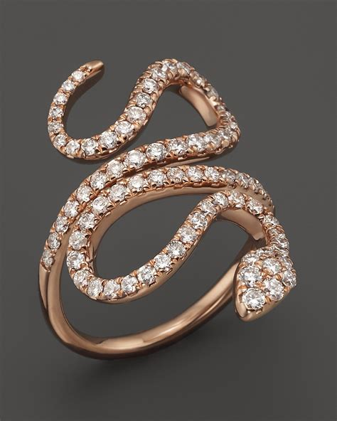snake ring in 14k gold 1 0 ct t w