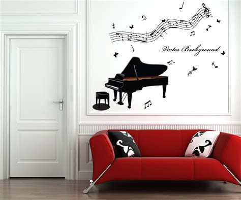 musical home decor free shipping home decor music wall paper wall stickers