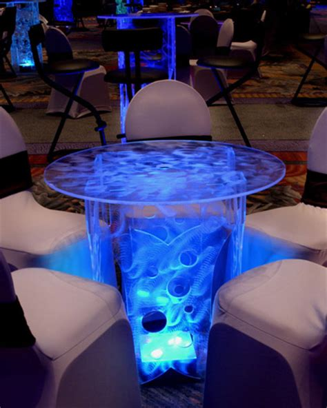 Lighted Table by Rent Lighted Acrylic Cocktail Tables Bars Lounge