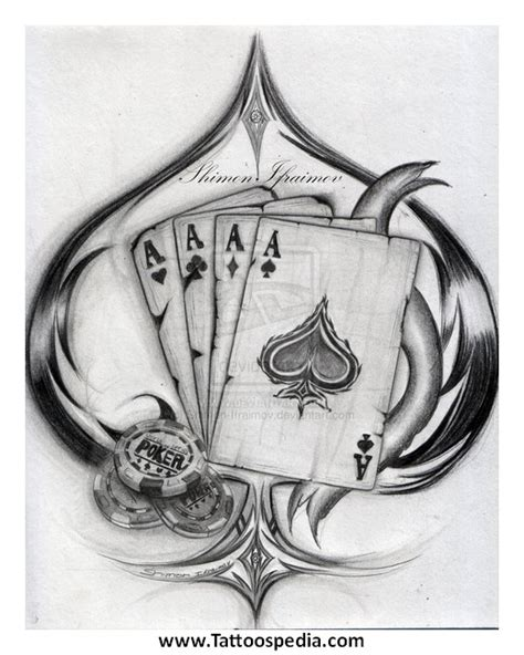 4 aces tattoo designs 2
