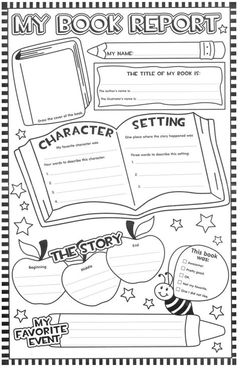 graphic organizers for book reports 11 x 17 book resport page graphic organizers