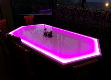 hexagon shaped led light  dining room table