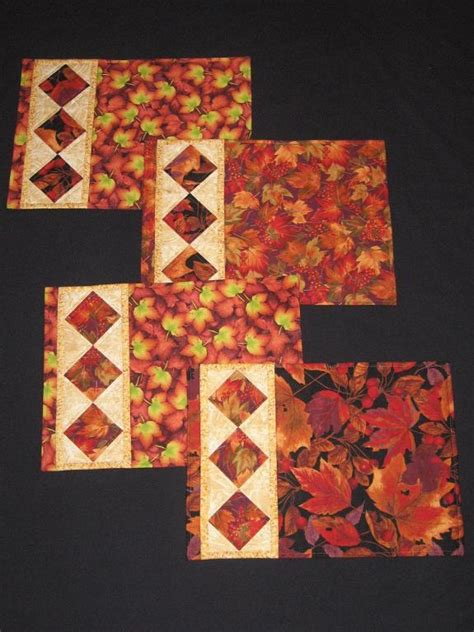 Placemat Quilt Patterns by Free Quilt Pattern String Of Diamonds Placemats