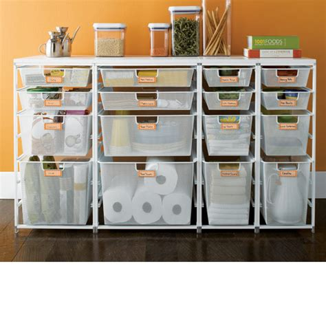 pantry drawers cabinet sized elfa mesh pantry drawers