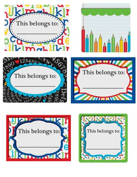 printable notebook labels back to school printable this belongs to labels perfect