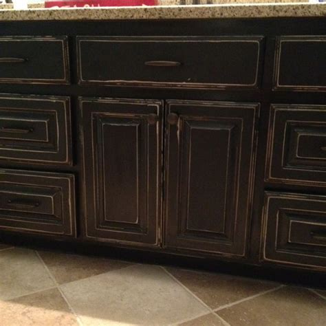 distressed black kitchen cabinets 25 best black distressed cabinets ideas on pinterest