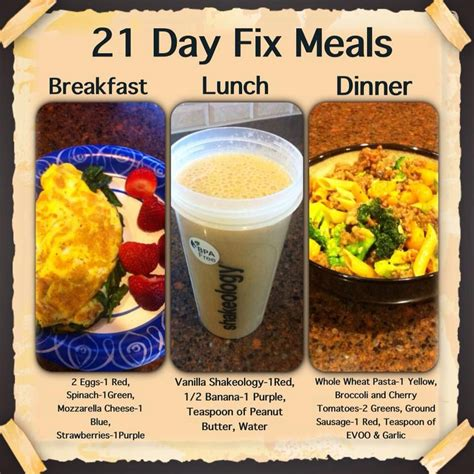 8 Fix Breakfasts For by 21 Day Fix Meals Missing From This Days Meal Is Peanuts