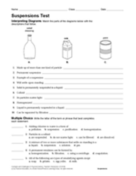 Solutions Colloids And Suspensions Worksheet by Solutions Colloids And Suspensions Activity Chemistry