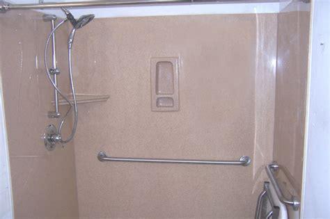 this doorless walk in shower design features an open