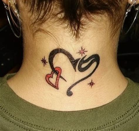 heartbeat tattoo back of neck neck tattoos and designs