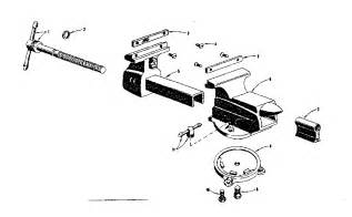 diagram of a bench vice craftsman craftsman bench vise parts model 50651801