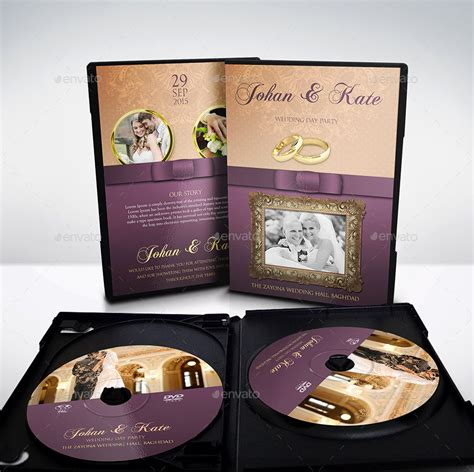 wedding dvd template wedding dvd cover and dvd label template by owpictures