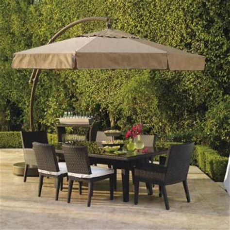 Frontgate Patio Umbrellas 11 1 2 European Side Mount Umbrella With Valance Frontgate