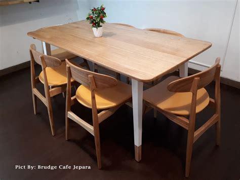 Meja Makan Cafe terlaris kursi meja makan scandinavian modern retro murah