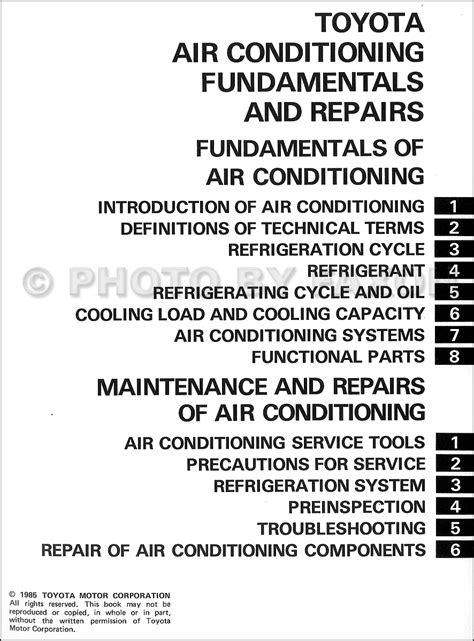 service manual automobile air conditioning repair 2010 toyota 4runner free book repair manuals 1986 toyota air conditioning fundamentals and repairs training manual original