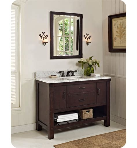 open vanity bathroom fairmont designs 1506 vh48 napa 48 quot open shelf modern bathroom vanity