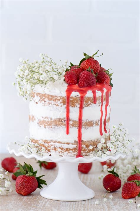 Homemade Coconut Cake Recipe by Strawberries And Cream Cake The First Year