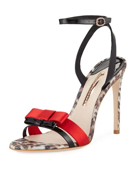 sophia webster andie patent double bow ankle strap sandals