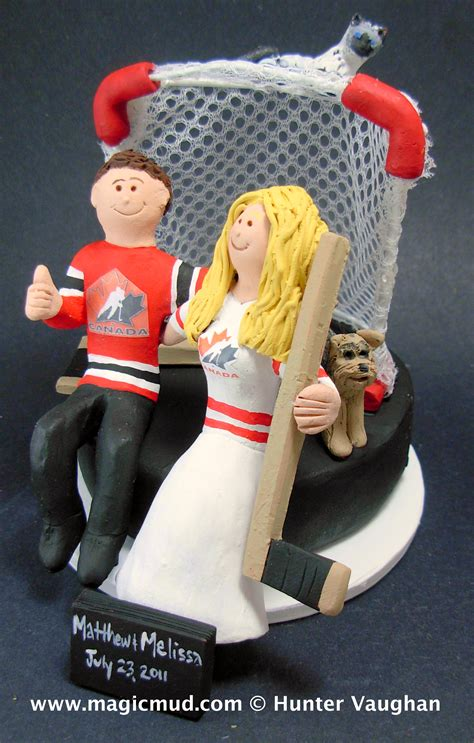 Wedding Cake Toppers Canada by Hockey Wedding Cake Toppers